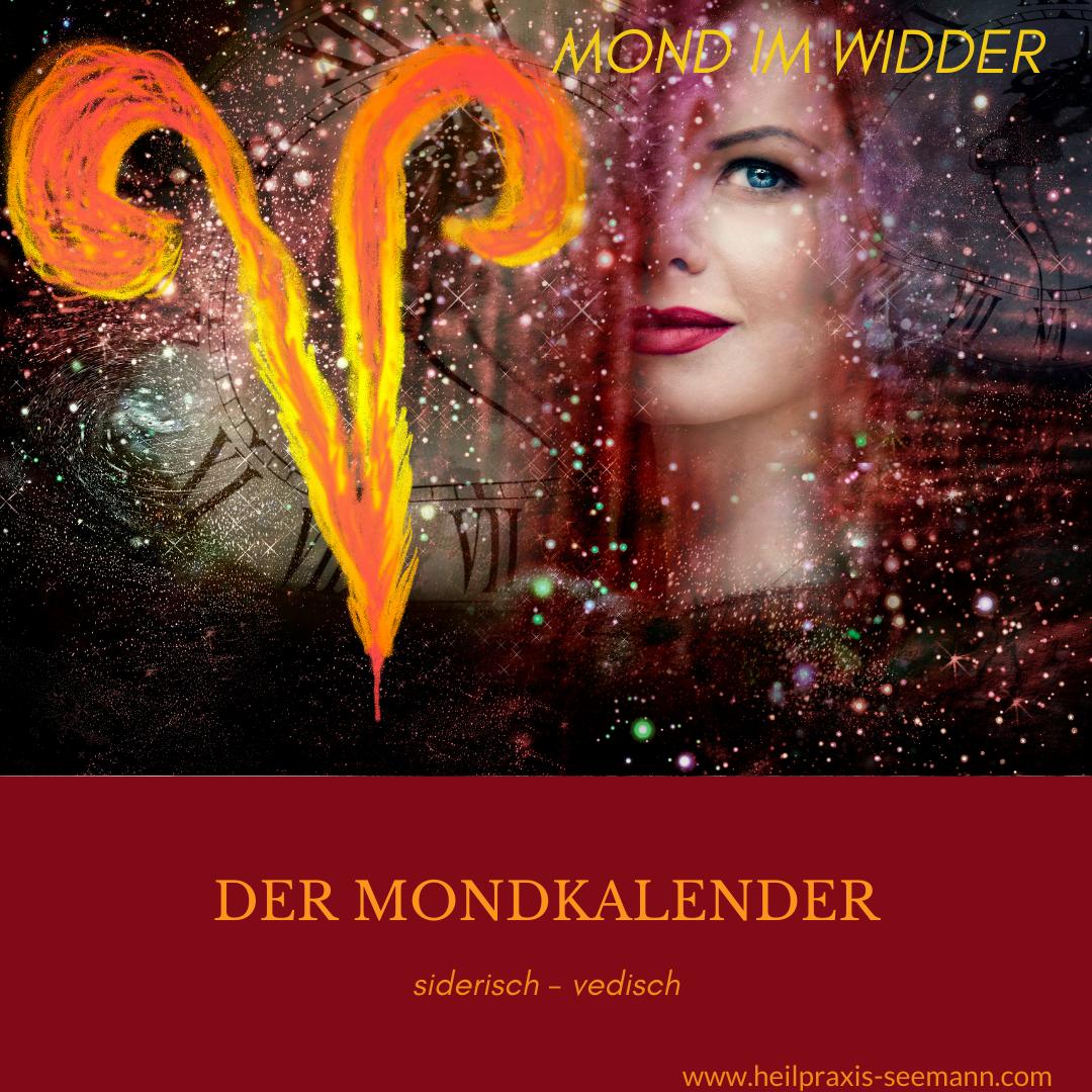 Der Mondkalender siderisch - vedisch Mond im Widder (1)