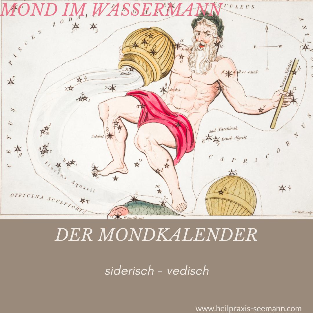 Heilpraxis Seemann - siderische Astrologie Mond im Wassermann (1)